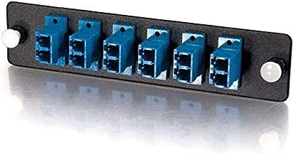 C2G 31116 Q-Series Fiber Distribution System 12-STRAND, LC DUPLEX, PB INSERT, MM/SM, BLUE LC - Patch panel adapter - blue