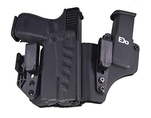 Fierce Defender IWB Kydex Holster Glock 19 23 32 w/Olight PL-Mini Valkyrie +1 Series w/Claw -Made in USA- Gen 5 Compatible (Black)