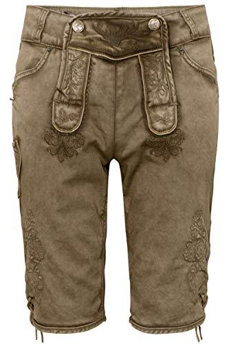 Hangowear Herren Herren Jeans 'Lederhose' Schlamm braun, Schlamm (braun), 58