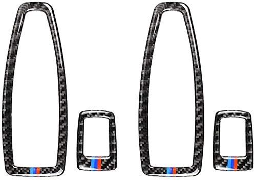 Marco de Fibra de Carbono del Interior del Coche Cubierta de la Ventana de Ajuste de elevación Botón for BMW F34 F30 F20 F21 Accesorios Tira de Ajuste de la decoración de círculo 1001 (Color : B)