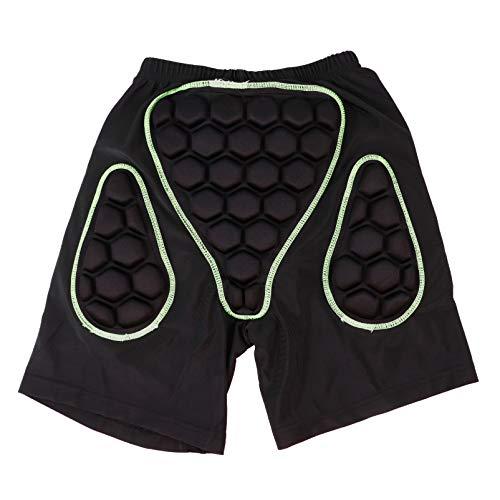 CLISPEED Protección de La Cadera Pantalones Cortos Acolchados en 3D Transpirable Trasero Y Coxis Equipo de Protección para Snowboard Patinaje de Esquí Patinaje de Esquí Negro Verde XL