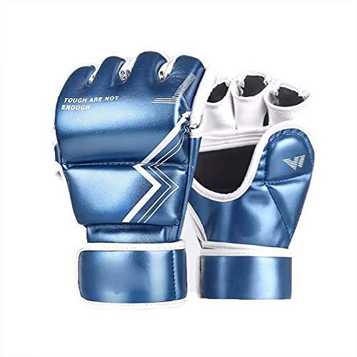 Bokshandschoenen bokshandschoenenponsen Bokszak Mitts UFC MMA Muay Thai Sparring Kickboxing Handschoenen for Kickboxing Sparring (Kleur: Blauw, Maat: M) Muay Thai handschoenen,dljyy