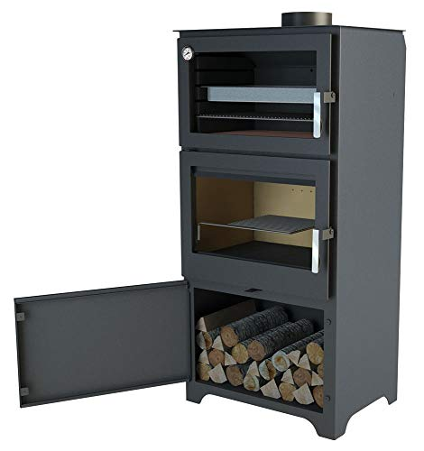 WOOD STOVE WITH OVEN...