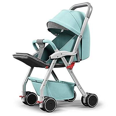 WRJY Cochecitos de Cochecito de bebé Silla de Paseo con un Pliegue de una Mano, pequeño Plegable, 0~3 años Baby Baby Portable Child Trolley