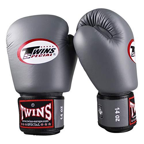 Twins Special Boxhandschuhe BGVL 3 - Grey - Boxhandschuhe MMA Kickboxen Sparring Muay Thai Leder (16 Unzen)