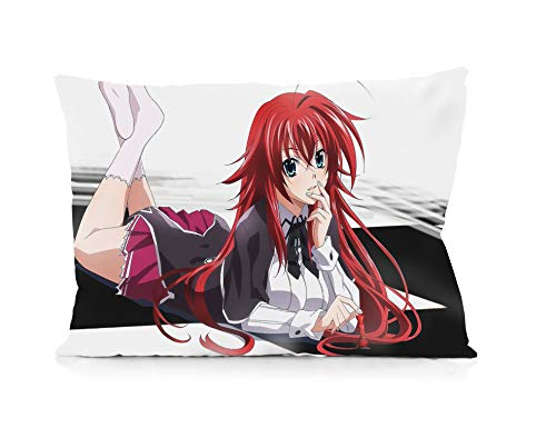 DUFAWS Anime Rias Gremory High School DxD Pillowcases Both Sides Print Zipper Pillow Covers 20'x30'