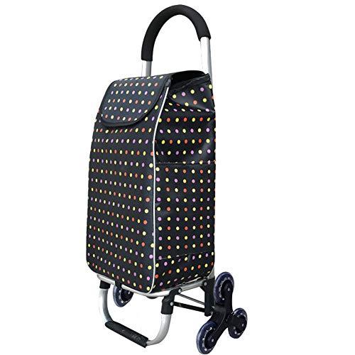 Aluminiumlegierung, die tragbare Räder der Einkaufslaufkatzen-6 faltet, Treppe, die praktischen Markt-Wagen klettert, Starke Abnutzung und einfach zur Lagerung große Kapazität