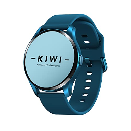 Kiwi Smart Watch for Men, Fitness, Temperature, SpO2, Heart Rate, Blood Pressure, Long Battery Life, (Black) LCD Display