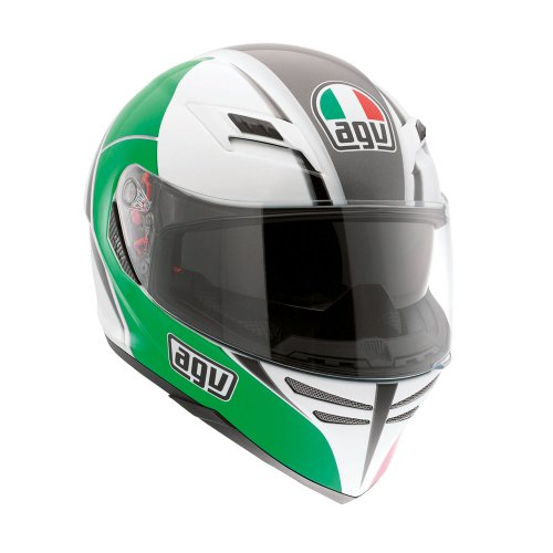 AGV 1401A2C00 Skyline E2205 Casco Block Italia Multi, Verde, XL