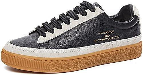 NGRDX&G Chaussures Blanches Chaussures à Semelle épaisse Pour Femmes Chaussures De Sport Pour Femmes Chaussures Antidérapantes