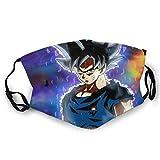Shadidi Dragon Ball Face mascarilla cubierta, reutilizable cuello polaina, pañuelo pañuelo para pesca mujeres y hombres