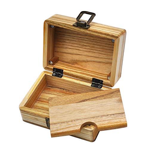 ALeis - Portasigarette in legno di canfora con chiusura magnetica