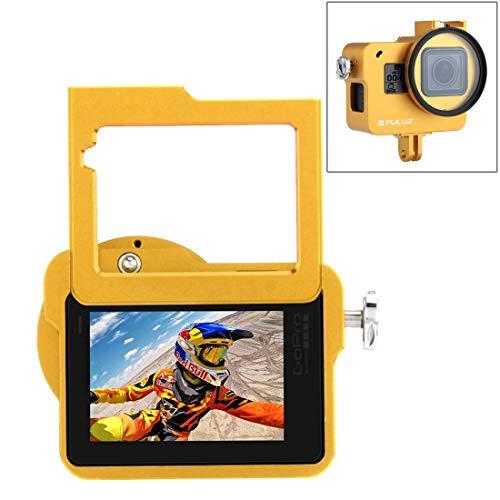 Camera bescherming kooi VHousing Shell CNC Aluminium beschermkorf Insurance Frame & 52mm UV Lens for GoPro HERO (2018) / 7 Black / 6/5 (zwart) Voor Actie Camera (Kleur : Goud)