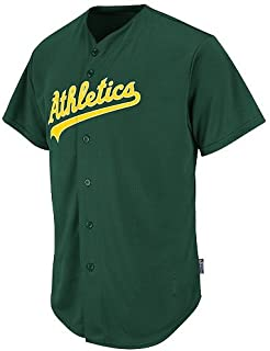 Majestic Authentic Sports Shop Oakland Athletics Full-Button Custom or Blank Back Major League Baseball Cool-Base Replica MLB Jersey
