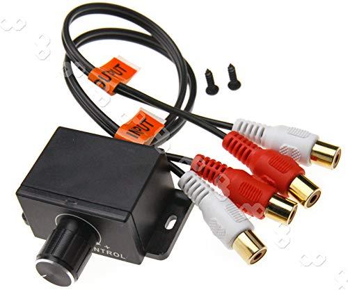 ENET Car 4 RCA Amplificatore Audio Bass RCA Amplificatore Livello di Guadagno Regolatore del Volume