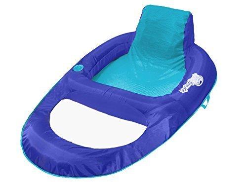 SwimWays Spring Float Recliner XL (Blue/Aqua) by SwimWays