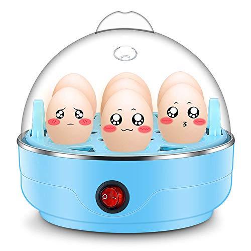 Multifunktions-Einschicht-Mini-Eiersteamer mit automatischer Ausschaltfunktion,Blue