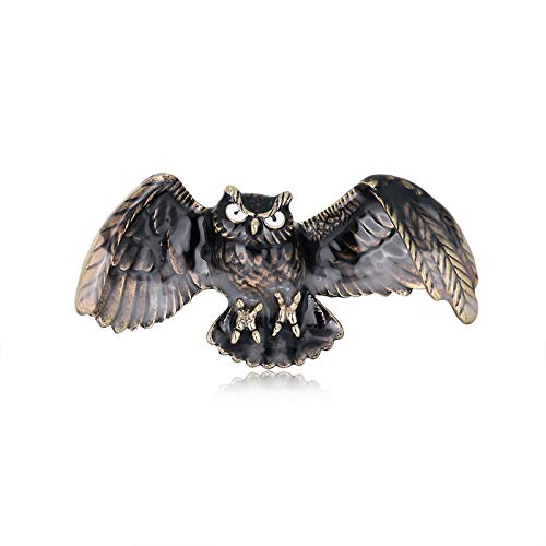 SANWOOD Vintage Brooch Pin Flying Owl Shape Brooch Clip Jewelry Clothes...