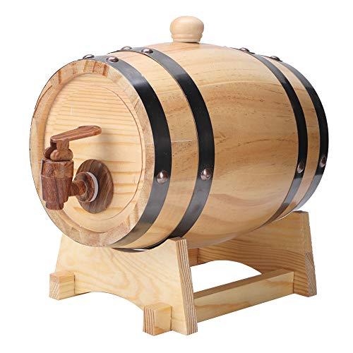 SANON 1. 5L hogar Mini madera de pino barril barril de cerveza de madera de madera equipo de elaboración de cerveza (color de madera 1. 5L)