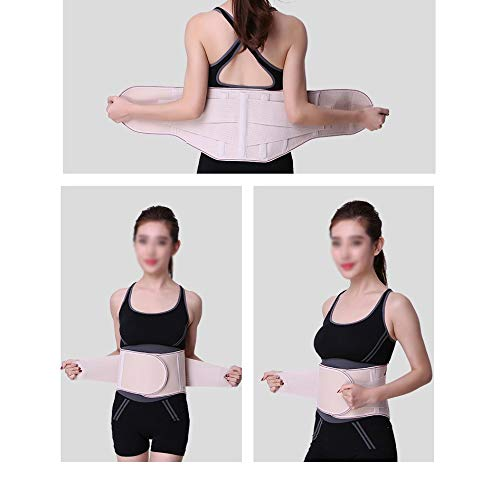 LSRRYD Lower Back Support Belt Lumbar Support Brace Adjustable Neoprene Double Pull Lumbar Support Lower Back Belt for Back Relief Sciatica Spinal (Color : Black, Size : X-Large)