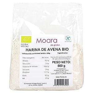 Harina de avena integral y neutra, BIO sin gluten y sin azúcar - Harina de avena ecológica sin sabor, ideal para repostería y recetas fitness - Otmeal flour vegana 500gr.
