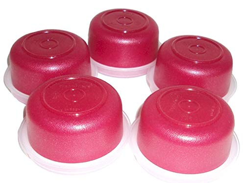 Tupperware Smidgets Tiny 1 Ounce Containers Set of 5 Starlight Red Sparkle Color