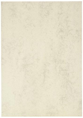 BRUNNEN 105141280 Universalpapier / Multifunktionspapier Marmor (A4, 160 g/m², 25 Blatt, marmoriert) grau