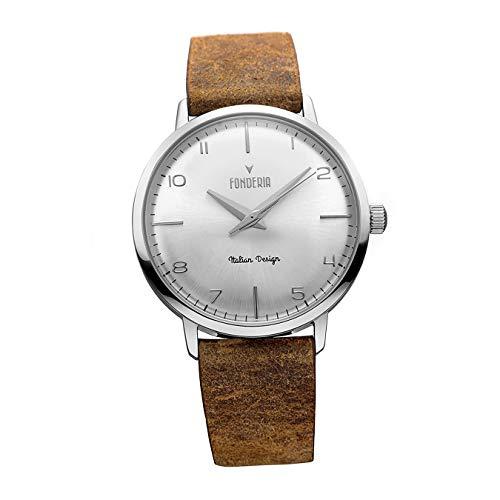 Fonderia Armbanduhr Herren P-6A003US5 Leder Uhr braun The Professor D2UAP6A003US5 EIN Geschenk zu Weihnachten, Geburtstag, Valentinstag für den Mann