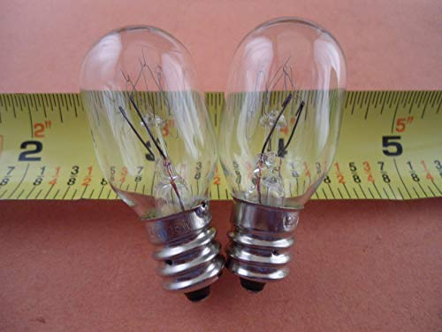 NGOSEW 2 Clear Light Bulbs Screw in for Singer 2263 Simple 3116 Simple 2259 Tradition1748, 2250, 2259