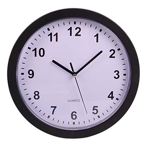 Unbekannt Reloj de pared con caja fuerte para cocina, salón, compartimento secreto para joyas, color: negro