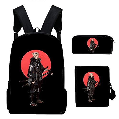 Ukaopjge The Witcher Rucksack Daypack Schoolbag Trekking Rucksack Wandern Tasche Mann, der eine Frau Trend Fashion Sport kühlen Wilde Art Beiläufig (Color : A04, Size : 40 X 30 X 13cm)