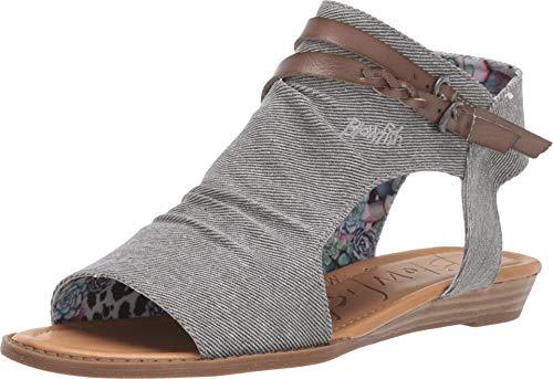 Blowfish Malibu Blumoon Women's Sandal 8.5 B(M) US Grey-Smoke