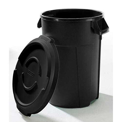 Conteneur multi-fonctions en plastique - capacité 120 l - noir - collecteur de déchets collecteur de tri collecteurs de tri conteneur multi-usages poubelle poubelle de tri poubelle à ordures poubelles de tri Collecteur de déchets Collecteur de déchets pour