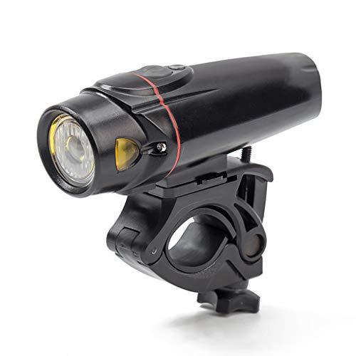 FAPROL fietslampen voor fietsen, USB-opladen, IP5, waterdicht, 2200 mAh, 350 lumen, lege accu, waarschuwingslamp