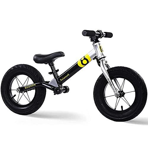 XGYUII Aleación de aluminio niños no-pedal equilibrio bicicleta conveniente para los niños de 2-6 edad fresca entrenamiento bicicleta equilibrio