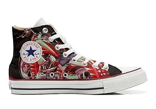 MYS Schuhe Sneakers American USA - Base Print to 1200dpi - Italian Style -Custom, Theme Motorrad - Size EU 39