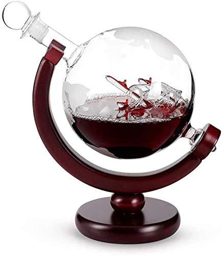 zyl Estante para Vino Botella separadora de decantador de Vino de Vidrio de 850 ml con Soporte para Estante vertedor de Licor de Alcohol Utensilios de Bar tapón de Globo