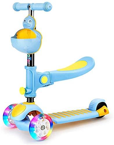Kinder können einen Roller Fahren, geeignet für 2-10 Jahre, höhenverstellbarer Faltbarer Roller