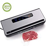 PARTU 2-in-1 Vacuum Sealer Machine Automatic Food Sealing & Vacuum for Dry/Wet Food Savers w/ 11' x 118' Sealer Bag, 2 External Suction Pipe for Fresh-keeping Tank and Clothes Storage