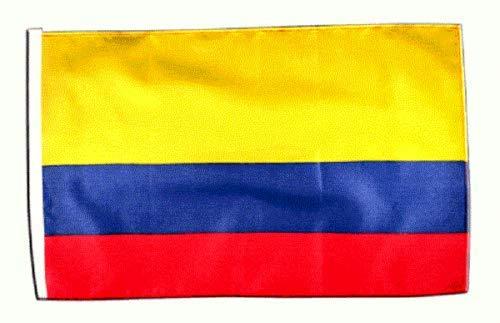 FlagSuperstore© Kolumbienische Bootsflagge, 45,7 x 30,5 cm, Baumhäuser, Wohnwagen, mit Ärmeln, 45 x 30 cm
