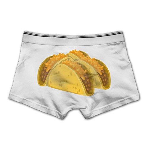 Mimilu Cute Quesadilla Men's Underwear L White