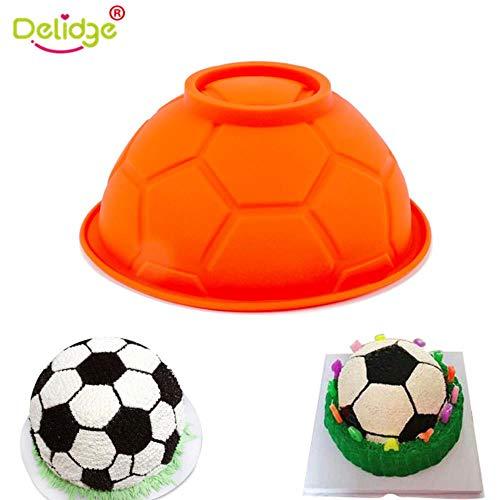Balón de fútbol 3D Molde de pastel de silicona Diy Chocolate Fútbol Deportes Tazón Molde de azúcar PasteleríaAccesorios para horneardulces