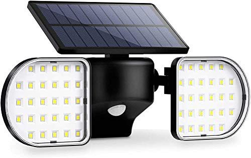 OUSFOT Luz Solar Exterior 56 LED Foco Solar con Sensor...