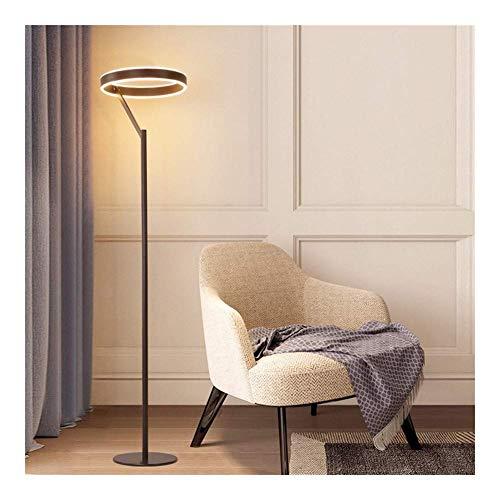 Duurzame vloer licht acryl materiaal, hoge transparantie Flexibele zwanenhals, Dimbaar staande Touch leeslamp voor woonkamer, slaapkamer, kantoor en slaapzaal A++ (kleur: T, Maat : H), Grootte: H, Kleur: