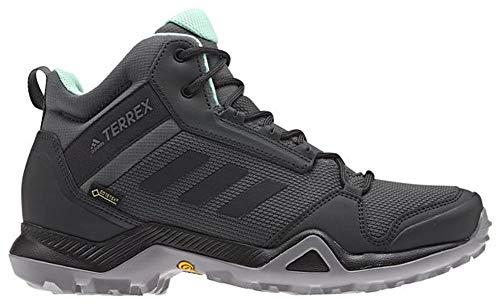 adidas Damen Terrex AX3 Mid GTX Outdoor, (Grey Five/Black/Clear Mint), 39.5 EU thumbnail