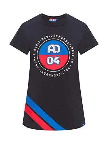 Andrea Dovizioso 2019 AD #04 Damen-T-Shirt, offizielles Ducati MotoGP T-Shirt, grau, Womens (XS) 84cm/33 inch Chest