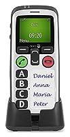 Doro Secure 580 GSM Mobiltelefon (4 Kurzwahltasten, Sicherheitstimer) schwarz-weiß