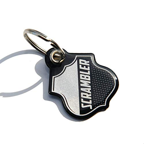 RESIN KEY RING COMPATIBLE WITH DUCATI SCRAMBLER MOTORCYCLE - SILVER