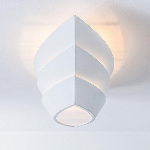 Lightbox Deckenleuchte 3 flammig, Deckenlampe im modernen Design mit E27 Fassung für max. 25 Watt Leuchtmittel, Metall - Matt Weiß