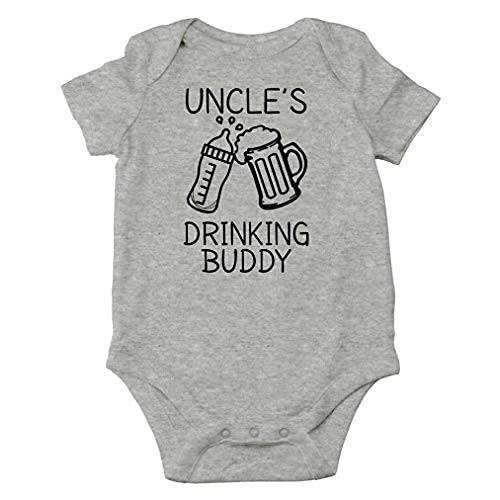 """Axige888 Mono de bebé de una sola pieza con texto en inglés """"My Uncle is a Bad Influence"""""""